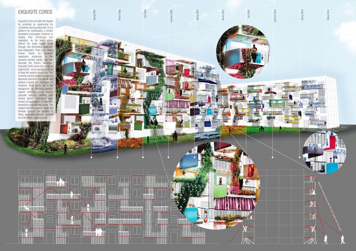 "Architecture competition ""Brutalist Facelift"" 1st prize winner - Ilana Simhon"