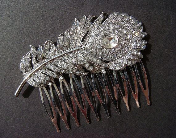Peacock Rhinestone Hair Comb Crystal Wedding Hair Combs