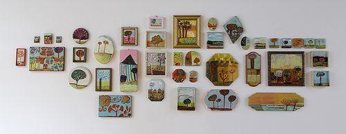Tree Paintings installation by Barara Gilhooly studio, via Flickr