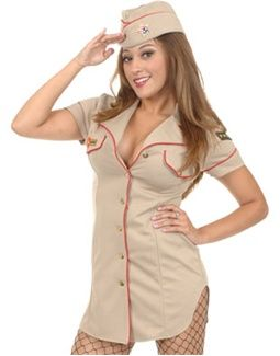 729f7e1b Women's Sexy Tan Air Force Brat Pilot Officer Costume Sexy Halloween  Costumes, Adult Costumes,