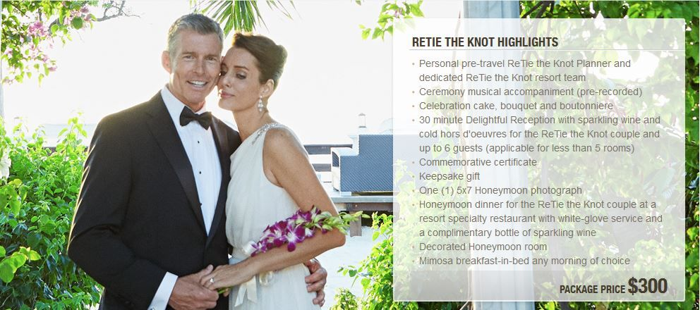 Destination Vow Renewal Retie The Knot Highlights Sandalsresorts Wedding Vowrenewal