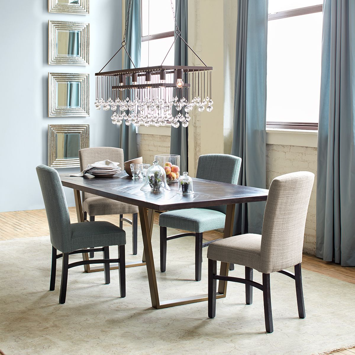 arhaus capri dining chairs fabrics for with versatile styling that blends perfectly both
