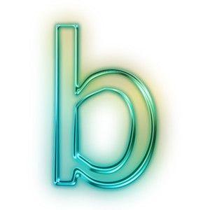 Neon Blue Green Letters Symbols Neon Letter Symbols Symbols