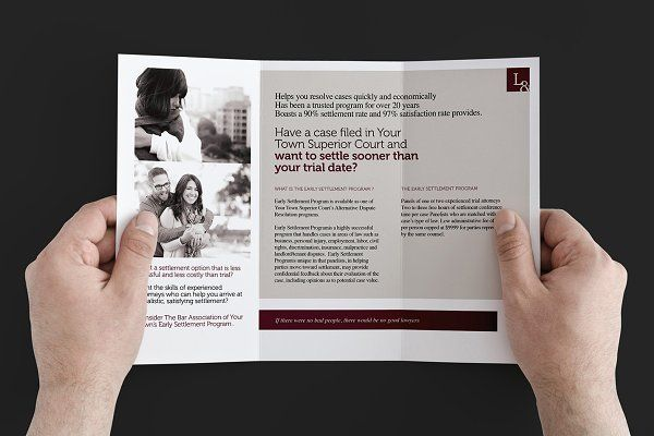Law Firm Trifold Brochure Template by BrandPacks on - law firm brochure