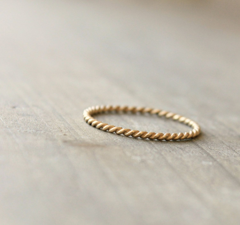 Gold Wedding Band Anniversary Ring 14 k by kristinwelchdesigns