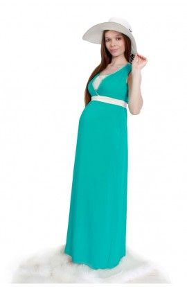 Rochie Verde 2in1 Pentru Gravide şi Alăptare Haine Pentru