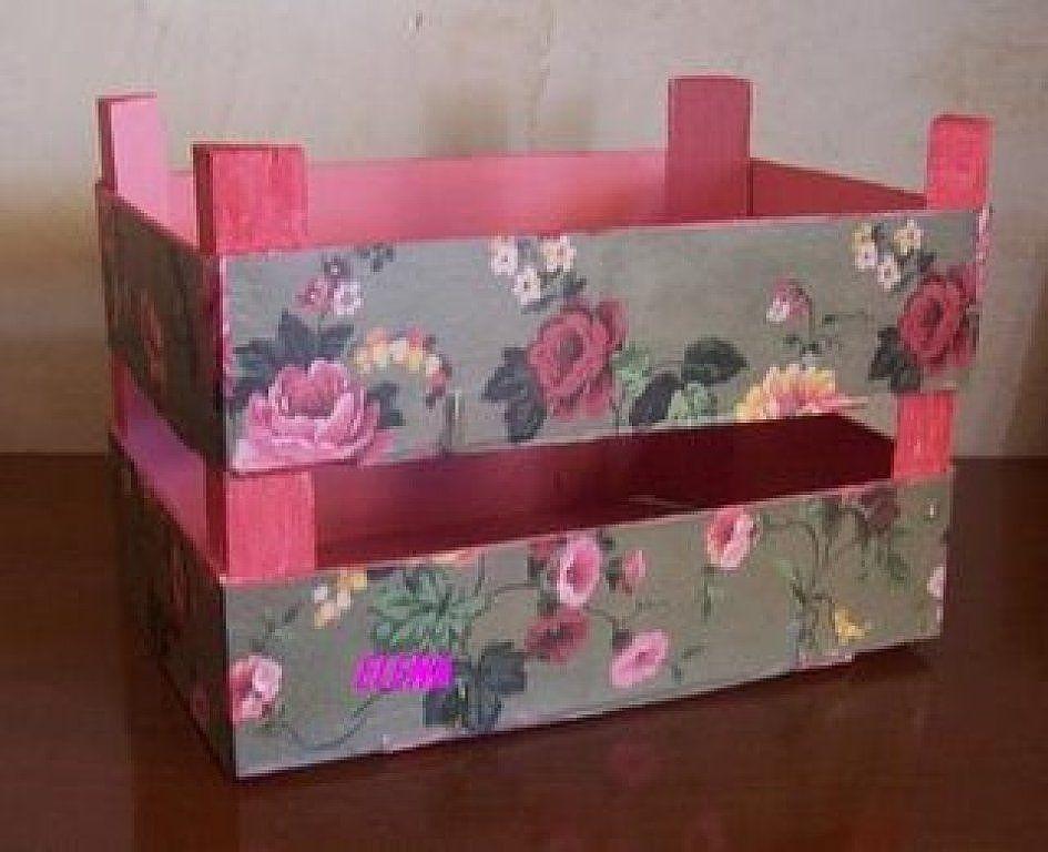Cajas de fresas fruit boxe caja de fresas decorada - Decorar cajas de madera manualidades ...