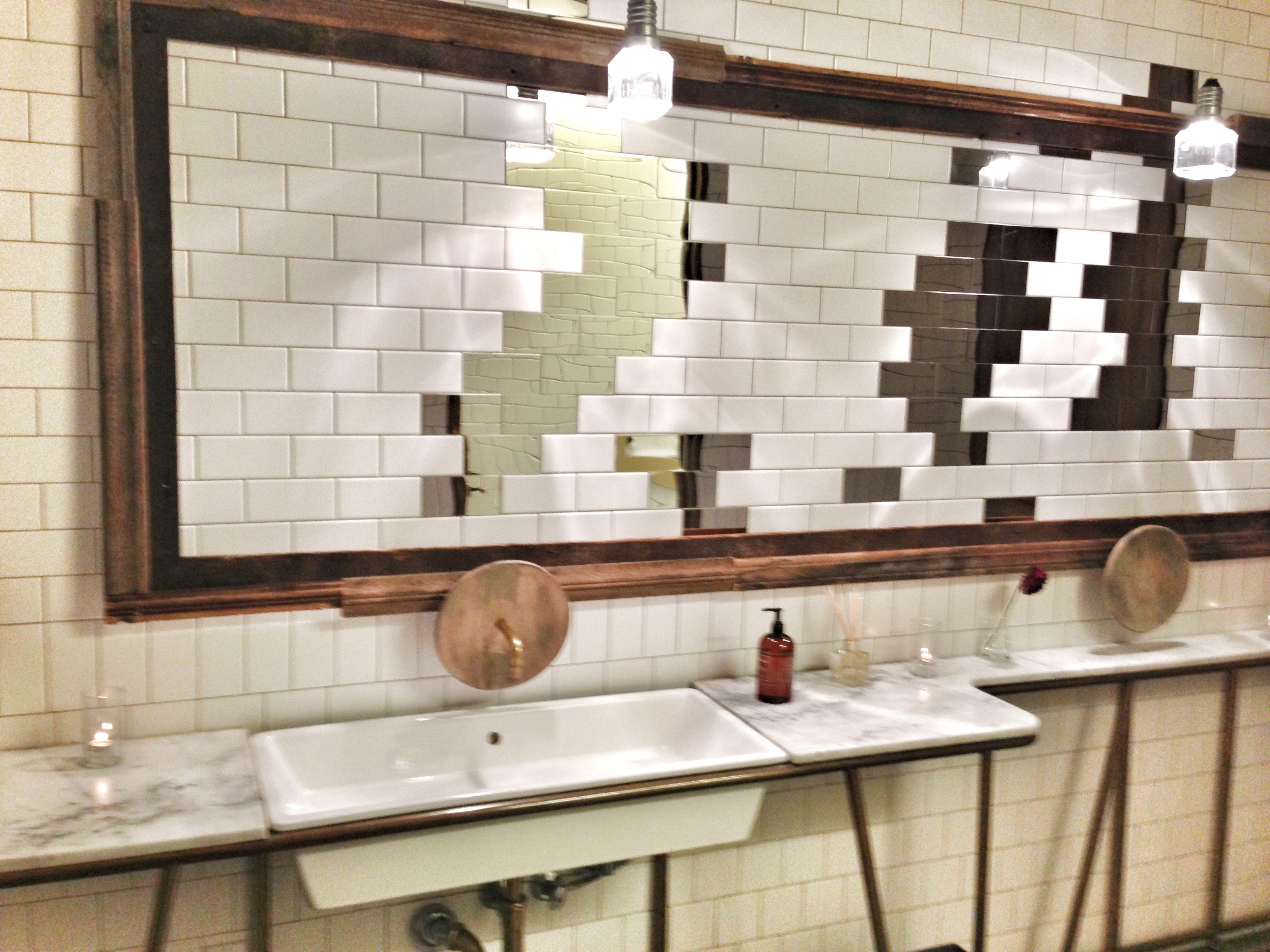Fantastic creative design using tiles as mirror  Taken in Hinoki   The Bird  Restroom. Fantastic creative design using tiles as mirror  Taken in Hinoki