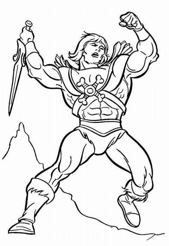 Masters Of The Universe He Man Motu Vintage Coloring Pages