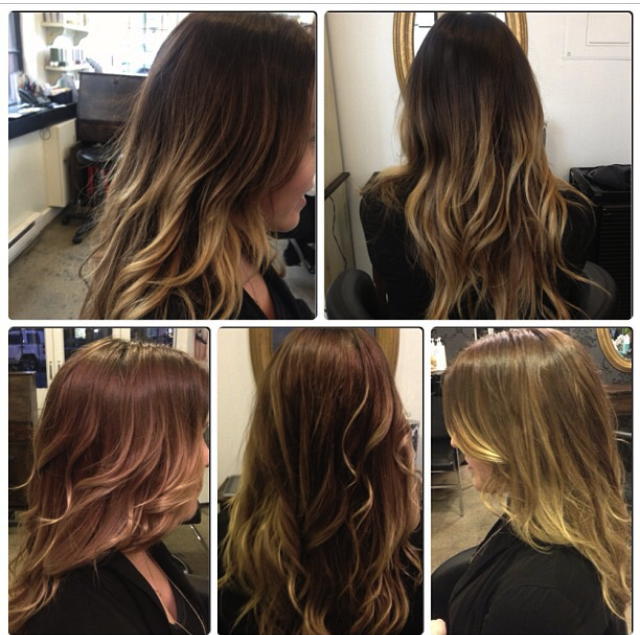 Ombre, dark roots, brown hair, light brown, dark to light ...