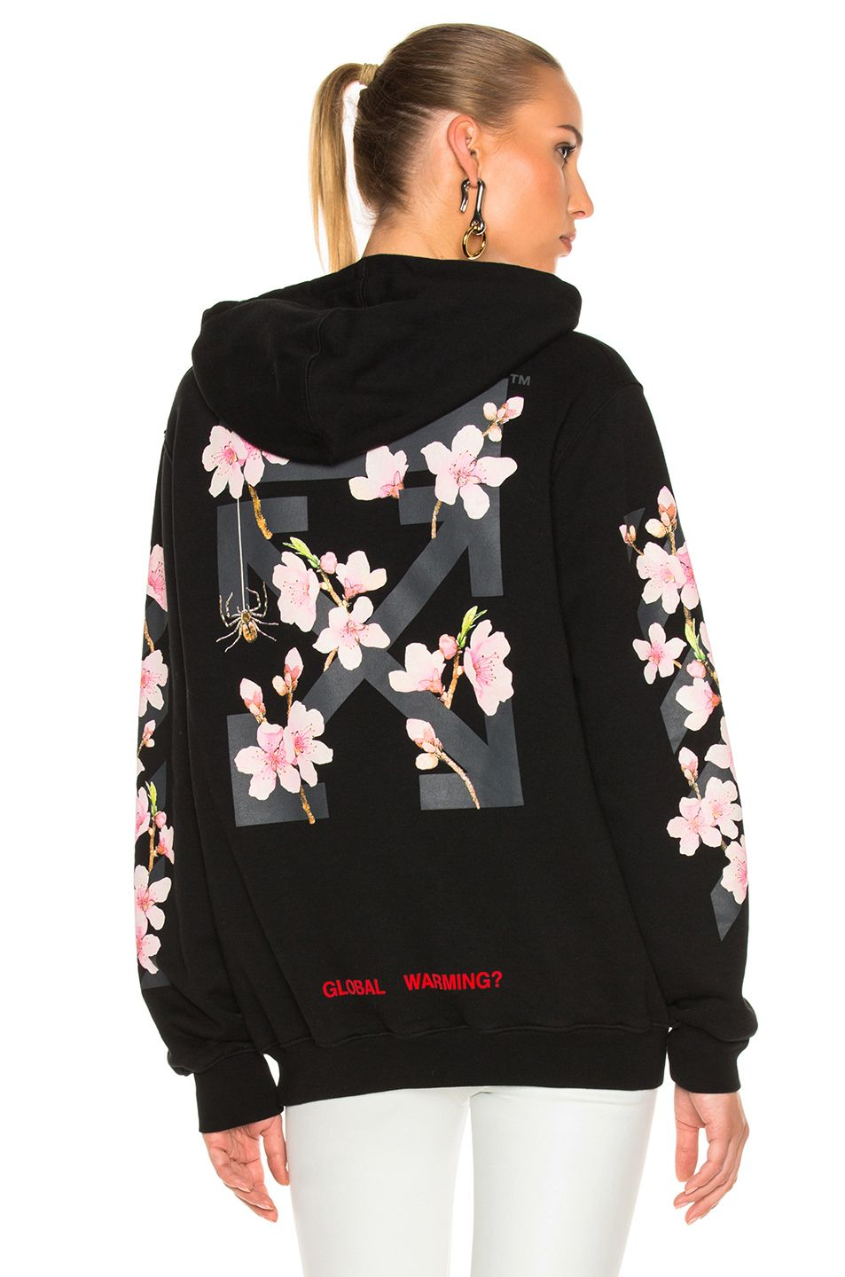 Off White Off White Cloth In 2021 Girls White Hoodie Off White Hoodie Cherry Blossom Shirt [ 1440 x 953 Pixel ]