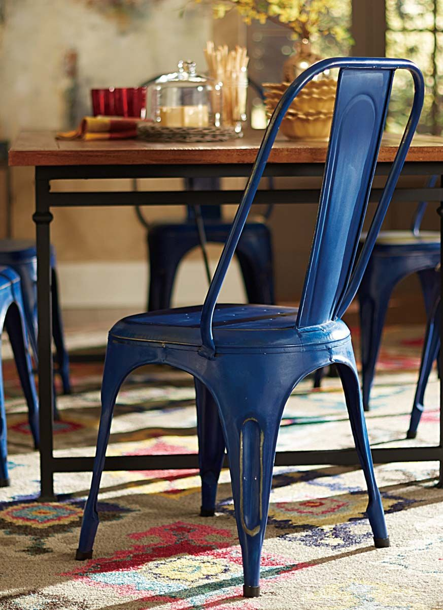 Homelegance Amara Blue Metal Chair Metal Dining Chairs Metal Chairs Swing Chair Diy