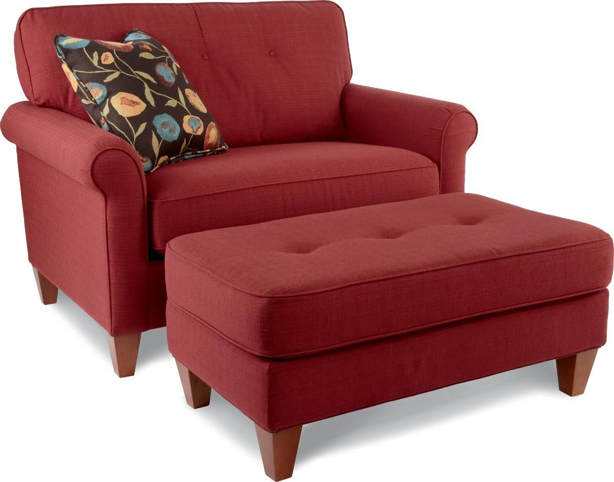 Charmant Chairs With Ottoman Red