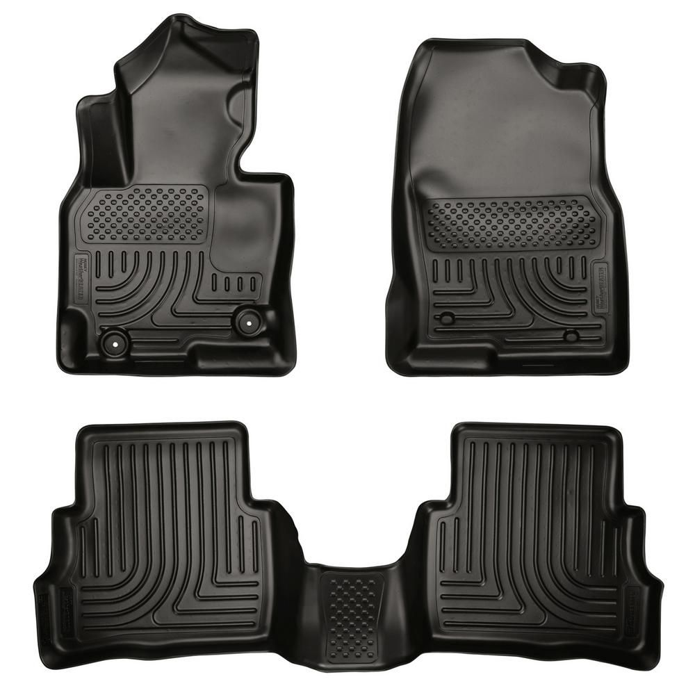 MAXLINER A0055 Floor Mats for Nissan Murano 2009-2014 1st Row Set Black