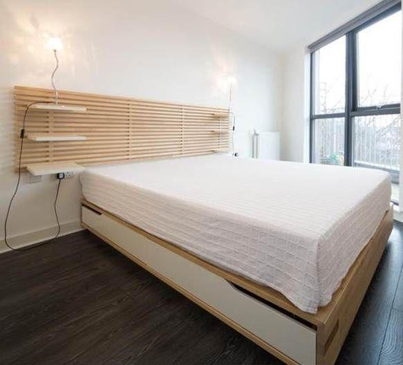 Ikea Mandal Kingsize Bed Frame Headboard Mattress