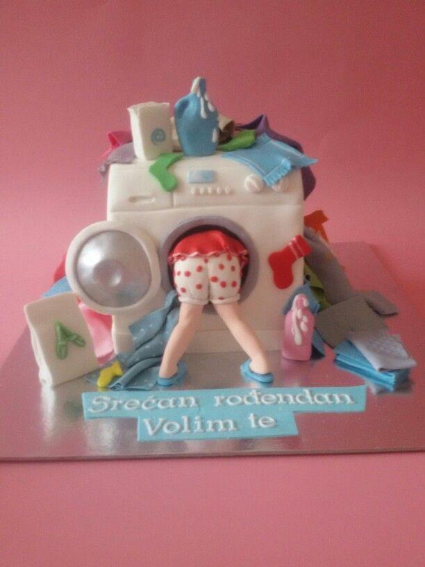 Veš mašina torta mashine Wash  cake
