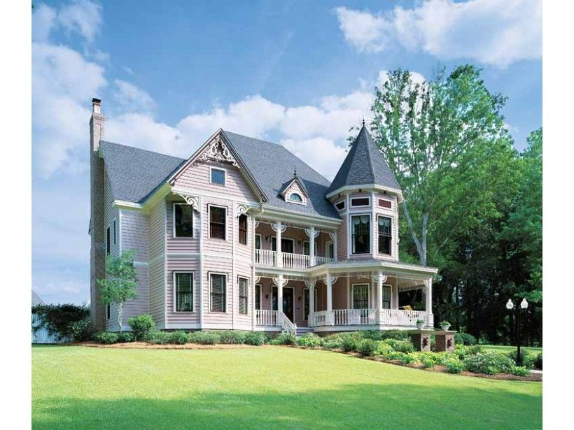 Victorian Style House Plan 5 Beds 4 Baths 4821 Sq Ft Plan 1047 24 Victorian House Plans Queen Anne House Victorian Style Homes
