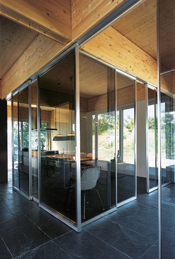 glazed sliding double door PAVILION LIGHT by Antonio Citterio TRE-P ...