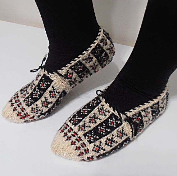 Hand Knitted Slippers by KnitsByDikmen on Etsy, $15.00 | Handmade ...