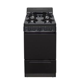 Premier Freestanding 2 4 Cu Ft Gas Range Black Common 20 In Actual 20 125 In Bak100bp Gas Range Range Appliances Oven Burner