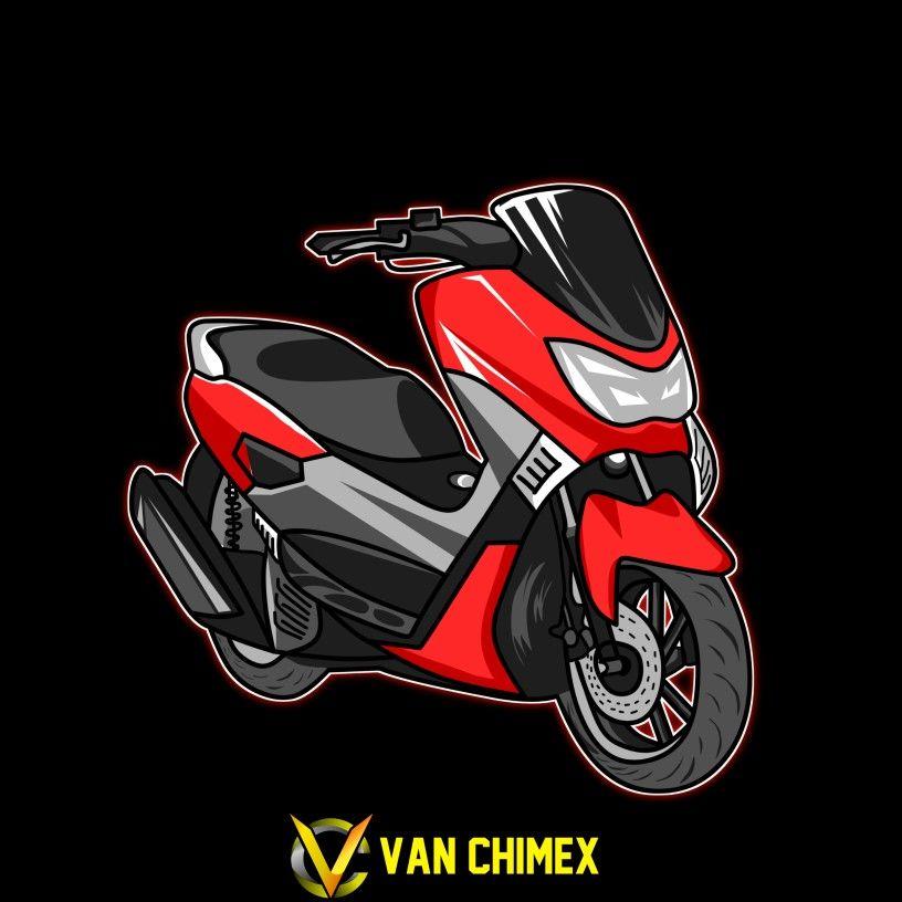 Design Vector Lineart Yamaha Nmax Logo Thailook Decal Nmax Di