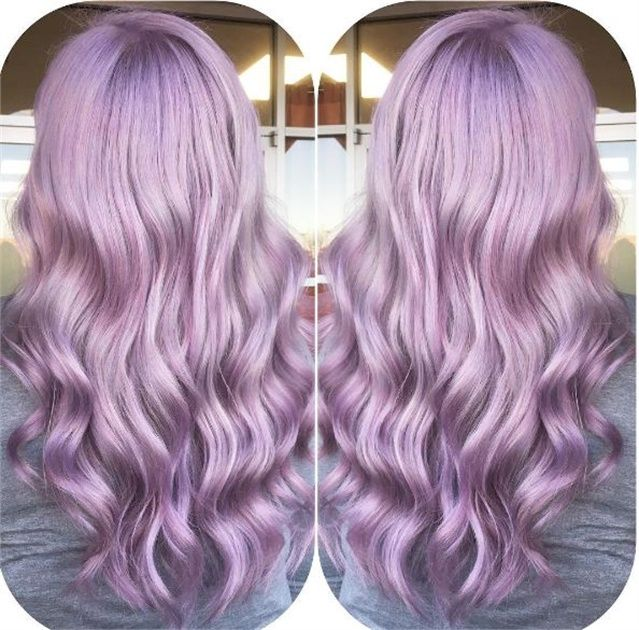 Lovely smokey lilac color with schwarzkopf formula hair for Purple mauve color