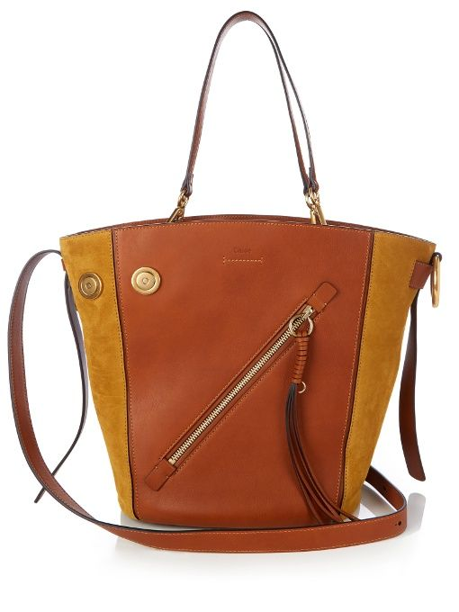 Chloé Myer Medium Leather And Suede Tote Designer Bags Destinations Totes Chloe
