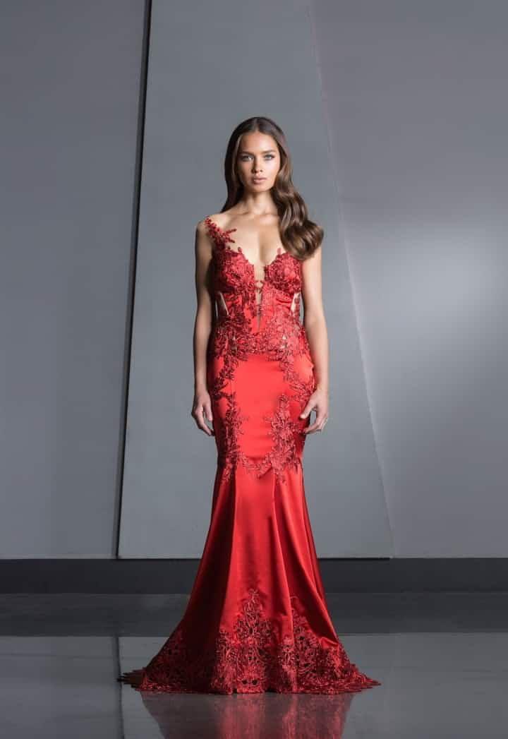 c9f4188720c4 45 vestidos rojos de noche que te hipnotizarán | bombón | Vestidos ...