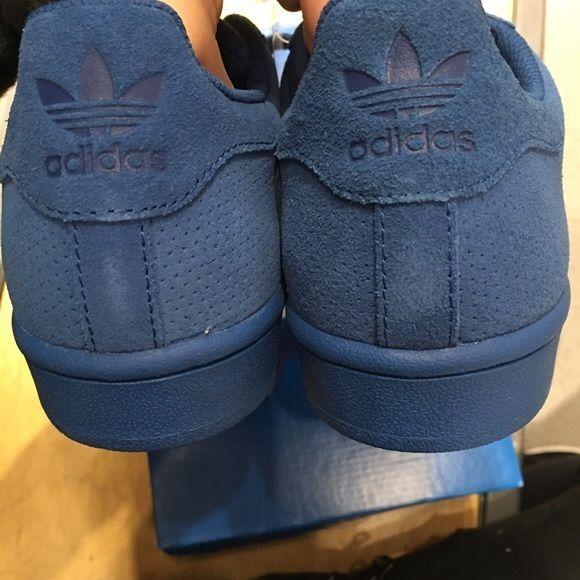adidas superstar blue suede