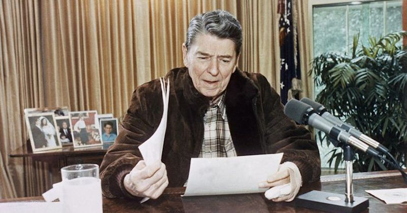 Image result for president ronald reagan makes a joke that causes a cold war flap