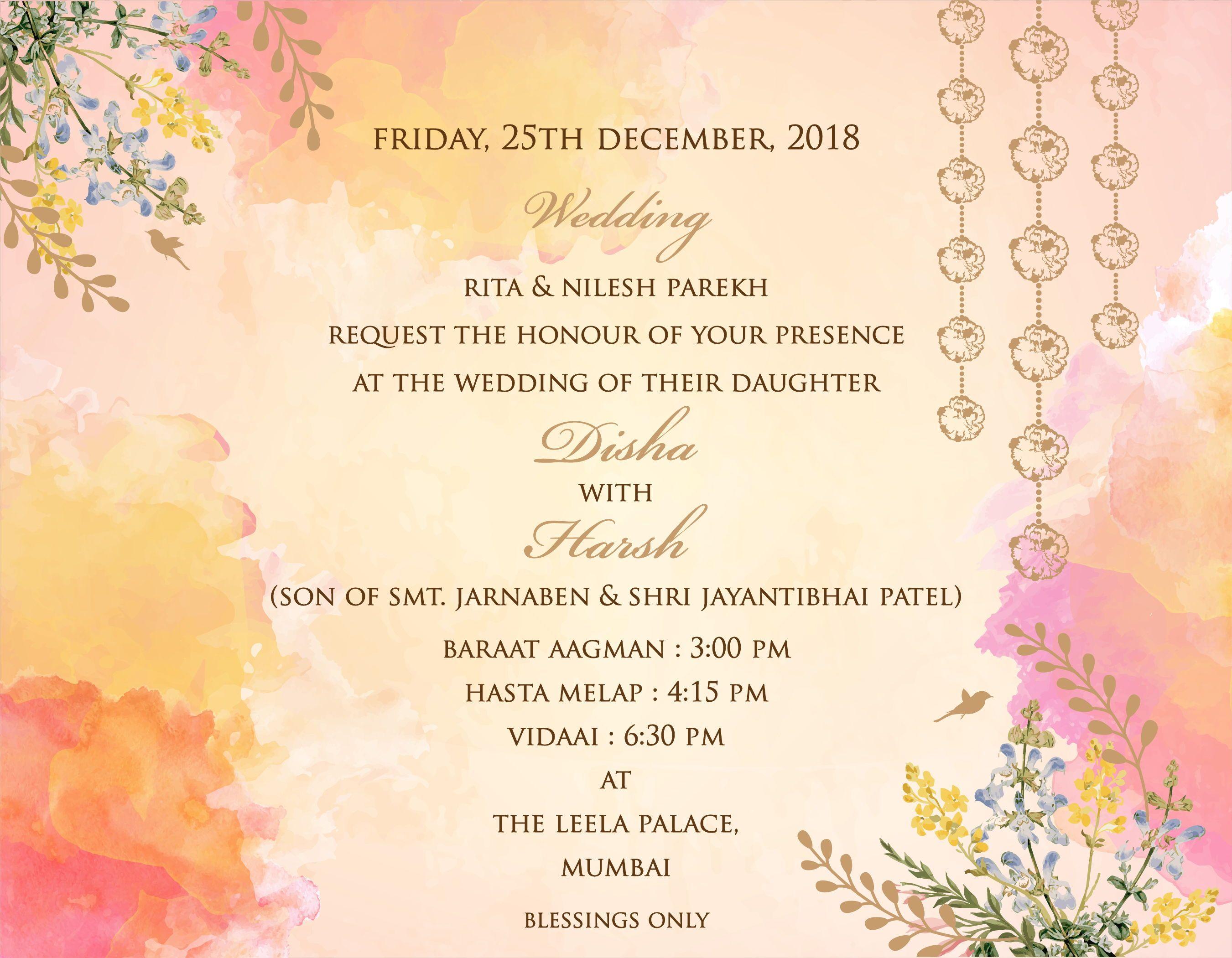 Wedding invitation cards, Indian wedding cards, invites, Wedding Sta… | Indian  wedding invitation cards, Wedding invitation cards, Indian wedding  invitation wording