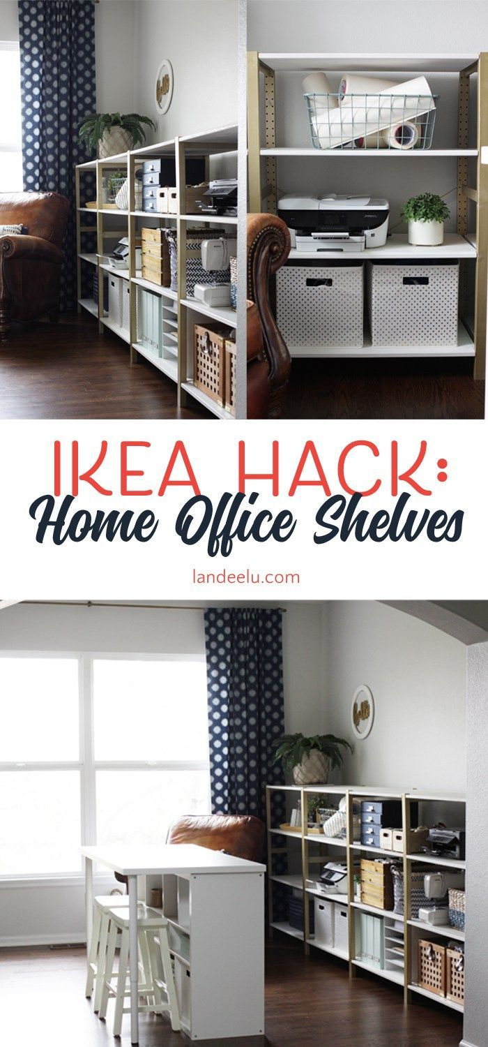 Superieur Over 11 Linear Feet Of Chic Shelving Made From Super Cheap IKEA Storage  Shelves! This Is An Awesome IKEA Hack.