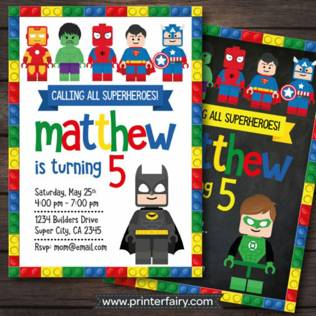 SUPERHERO Birthday Invitation Superhero Invite by SewKawaiiKids ...