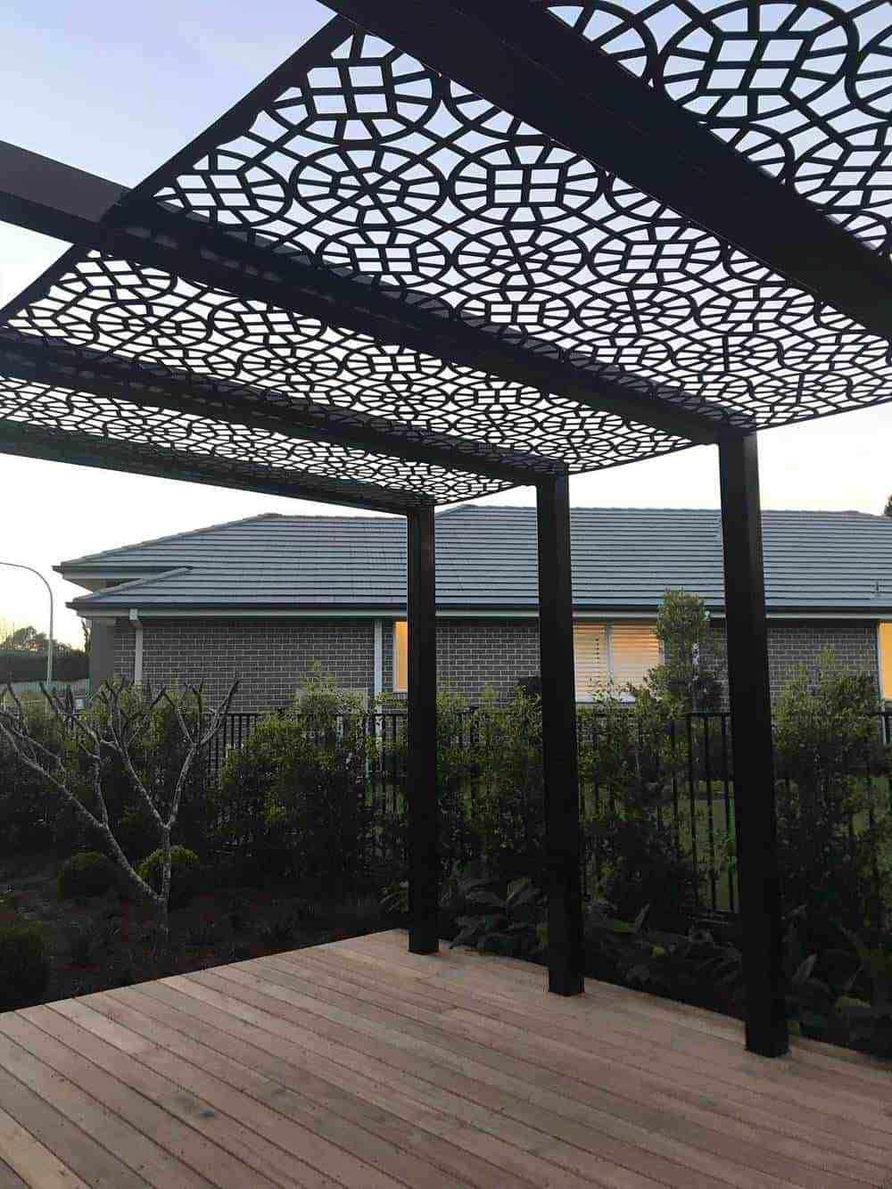 Image Result For Laser Cut Pergola Perforated External