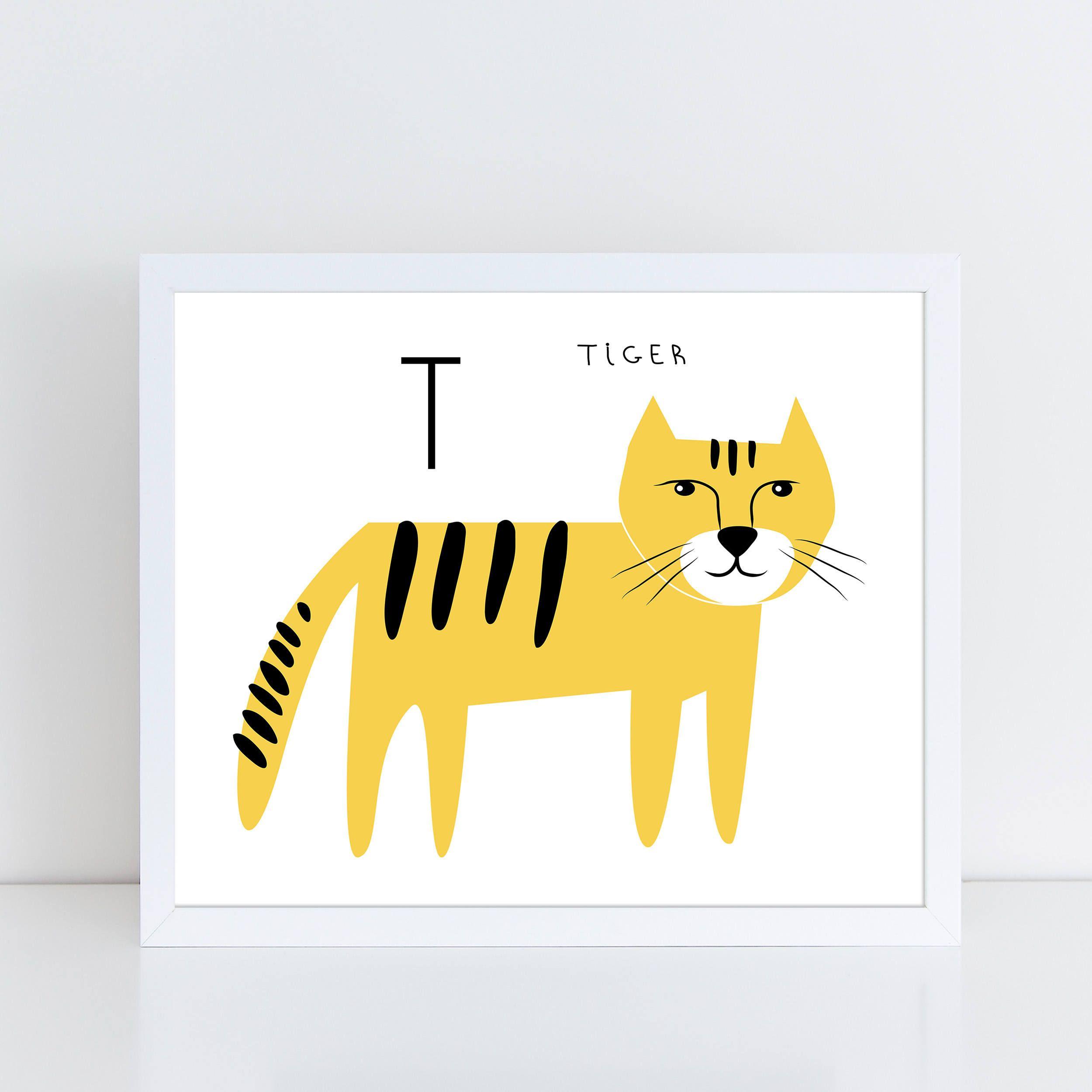 Tiger Printable, Safari Nursery, Animal Alphabet, Tiger Print ...