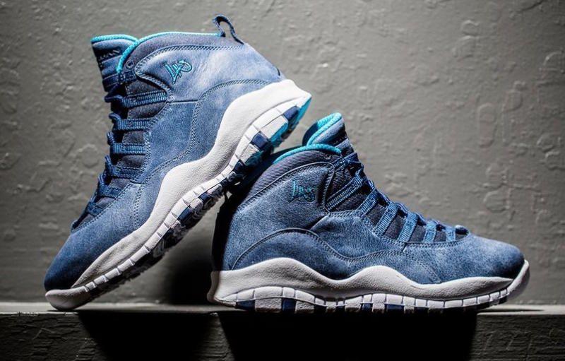 Nike Air Jordan 10 Retro X Indices Bleu De Poudre