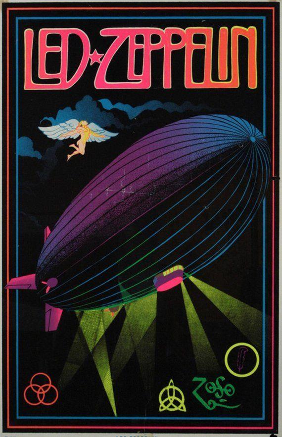 Vintage Music Art Poster - Led Zeppelin - 0571