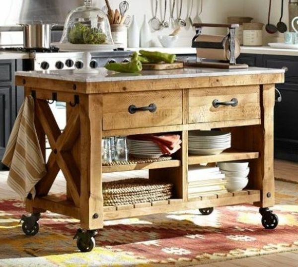 Portable Kucheninsel Holz Teller Idee Kitchen Islands Pinterest