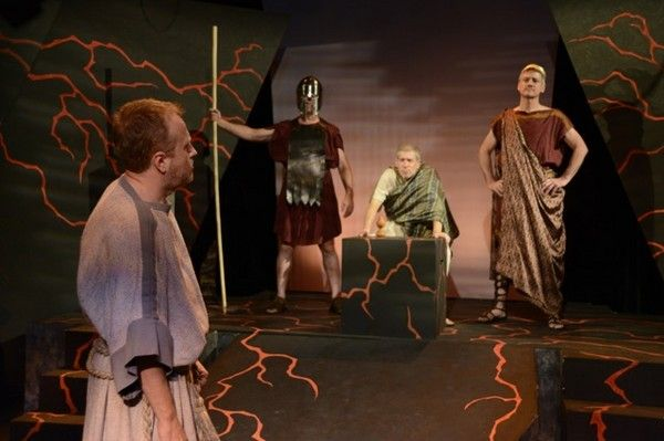 The Rock of Abandon, at the Lillian Theater.  Nov 2012.  Written by Clifford Stephen Blackburn.  Scrip, set, costumes - all wonderful!