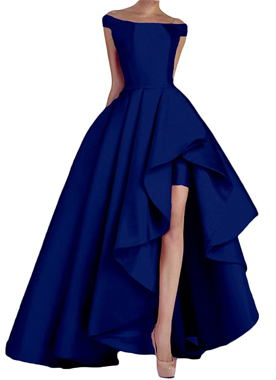 Kevins Bridal Women s Off Shoulder Long Evening Prom Dresses High Low  Formal Gowns at Amazon Women s Clothing store  915ad8a7d88a