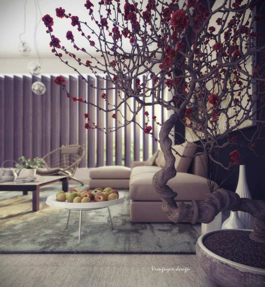 Chic Contemporary Spaces Rendered By Anh Nguyen: Uniquely Intriguing Interior Spaces By Vic Nguyen