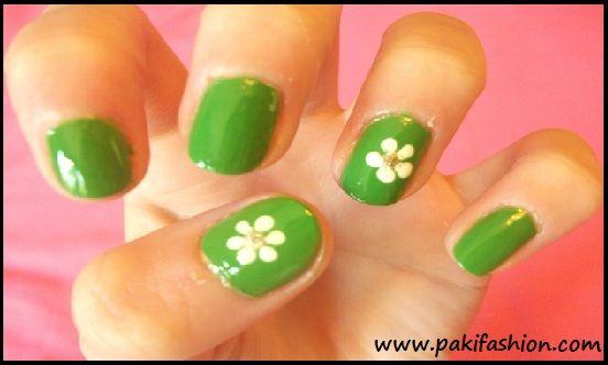 Lovely White Flowers With Dark Green Leaves On Light Green