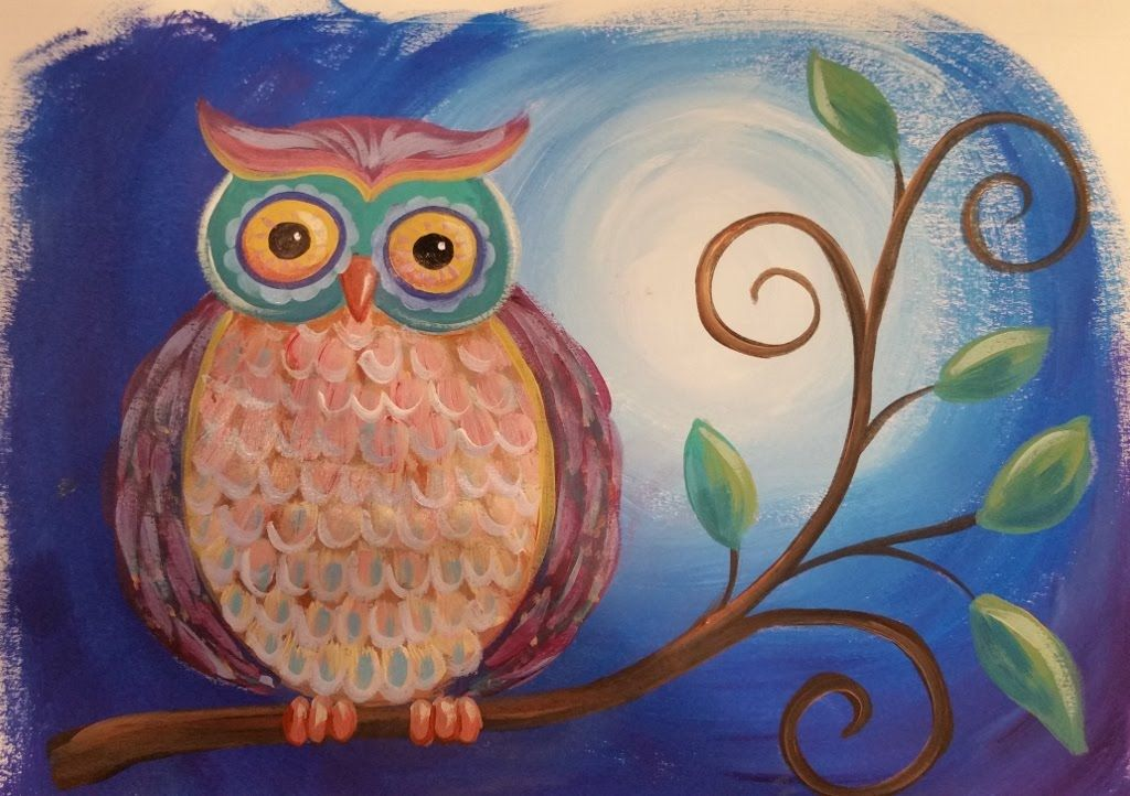 Owl Acrylic Painting Tutorial Live Stream Event Free