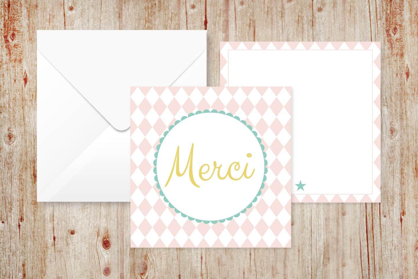 Jolie carte merci mariotte-papeterie.fr   Jolie carte merci, Carte merci, Jolies cartes