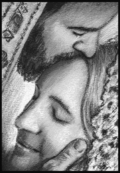 Image result for prophetic art Jesus kissing His Bride