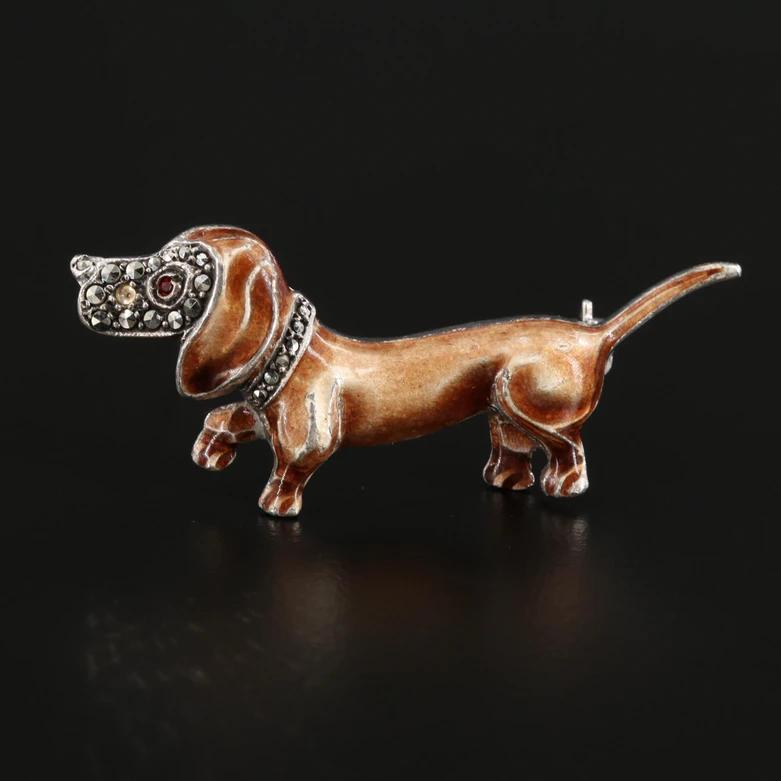 Vintage copper Dachshund brooch Unisex Brooch dog Brooch