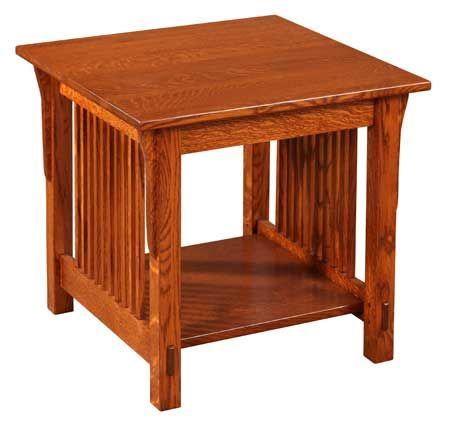 Superbe 33% Off Prairie Mission Square End Table In Oak | Solid Wood Amish Furniture
