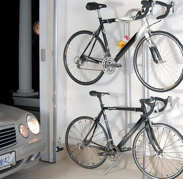 Garage Storage Ideas Cabinets Racks Overhead Designs In 2020 Garage Storage Freestanding Bike Rack Diy Garage Storage