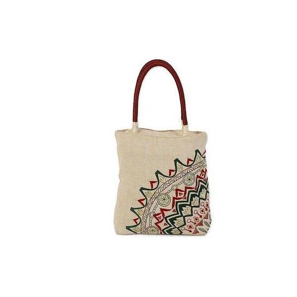 Novica Shoulder bag, Floral Beige