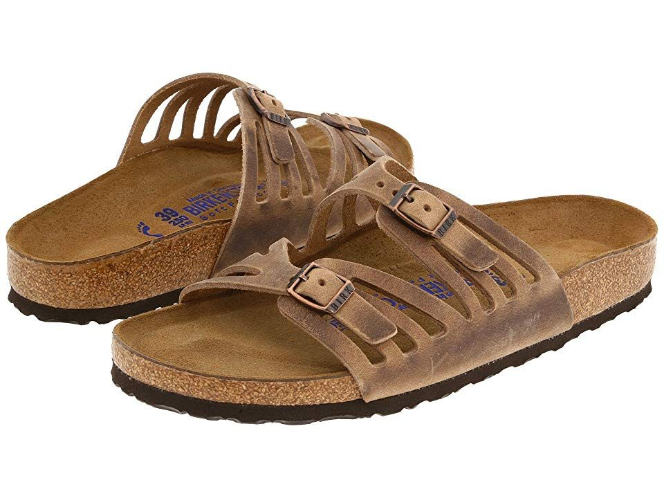 96917a268151 Birkenstock Granada Soft Footbed (Tobacco Oiled Leather) Women's Sandals.  Please be advised that the Birkenstock Narrow width accommodates both  traditional ...